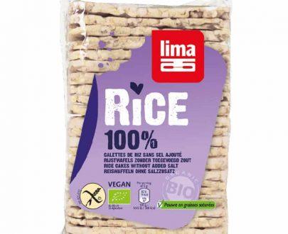 Βιολογικές λεπτές ρυζογκοφρέτες χωρίς αλάτι 130g, lima