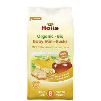 Βιολογικές μίνι φρυγανιές με μέλι & βούτυρο 100g, Holle