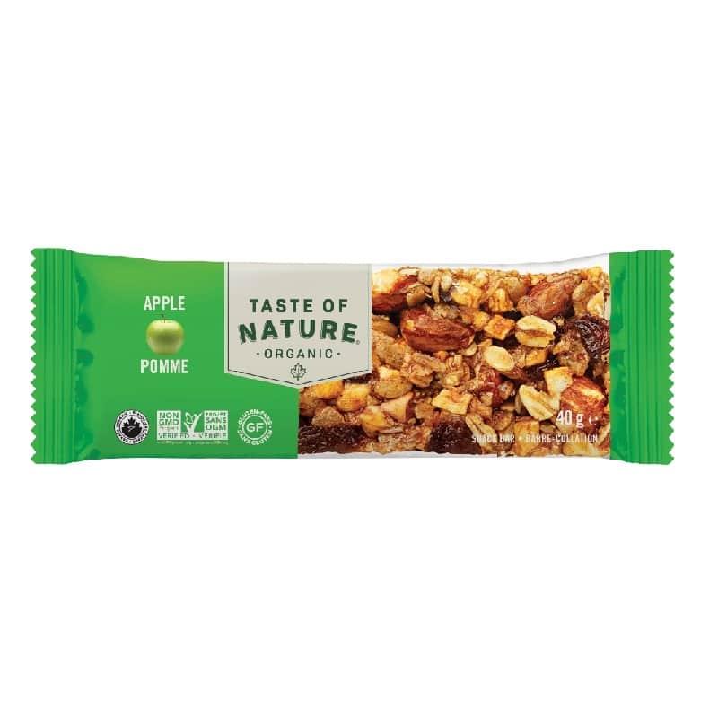 Βιολογική μπάρα με ξηρούς καρπούς & μήλο 40g, Taste of Nature