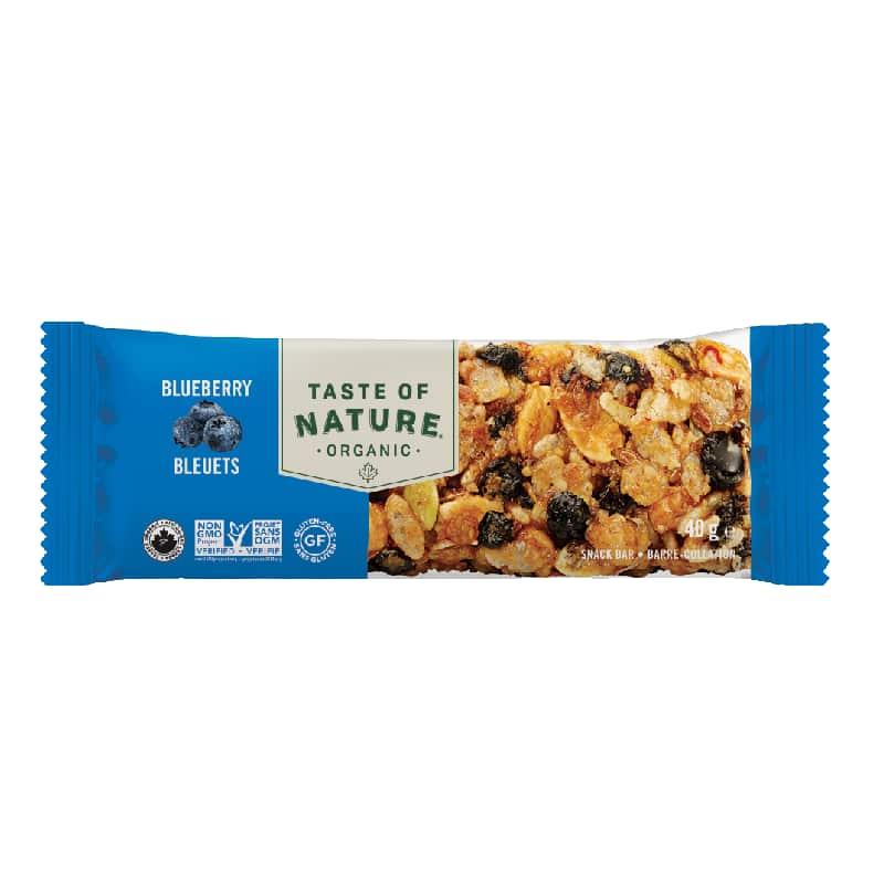 Βιολογική μπάρα με ξηρούς καρπούς & μύρτιλλα 40g, Taste of Nature