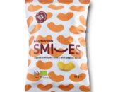 Βιολογικά γαριδάκια ρεβυθιού Smiles με φυστικοβούτυρο 50g, harmonica