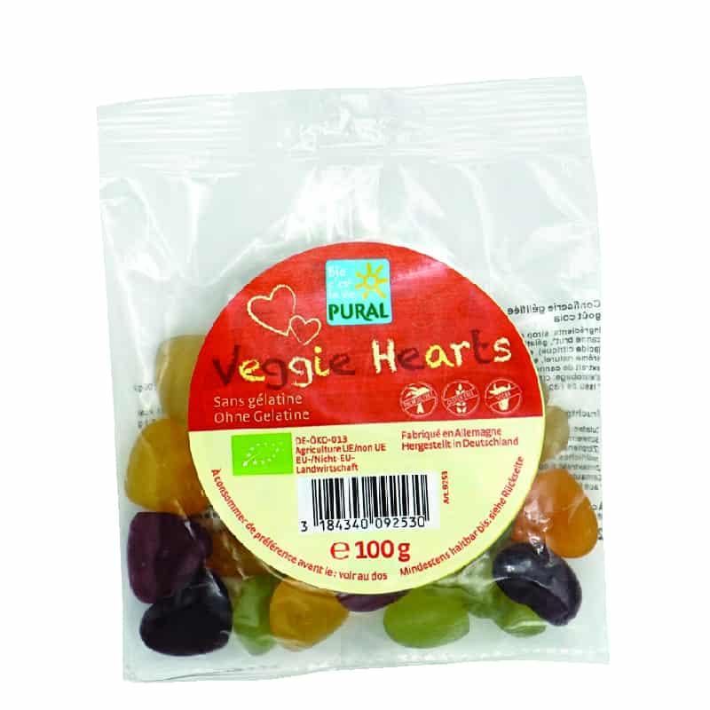 Βιολογικά ζαχαρωτά καρδούλες 100g, Pural