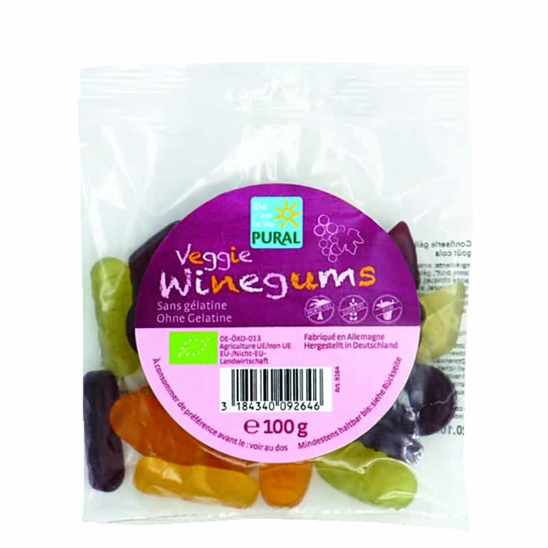 Βιολογικά ζαχαρωτά με κρασί Winegums 100g Pural