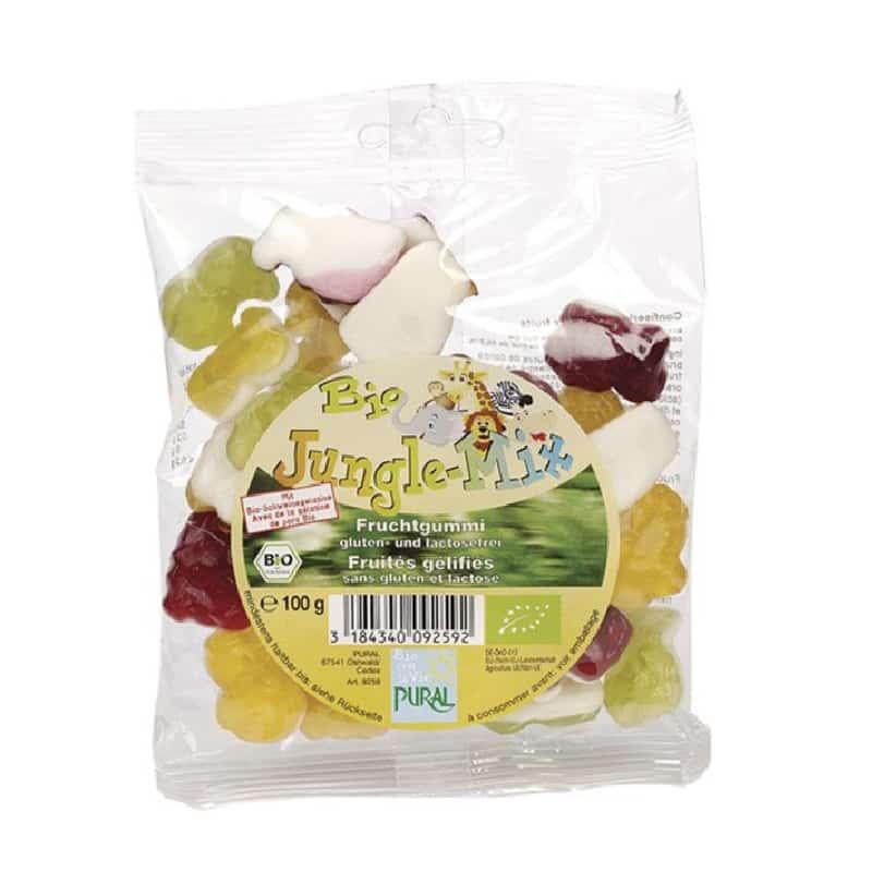 Βιολογικά ζαχαρωτά φρούτων Jungle 100g, Pural