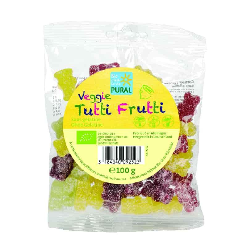 Βιολογικά ζαχαρωτά Tutti Frutti 100g, Pural