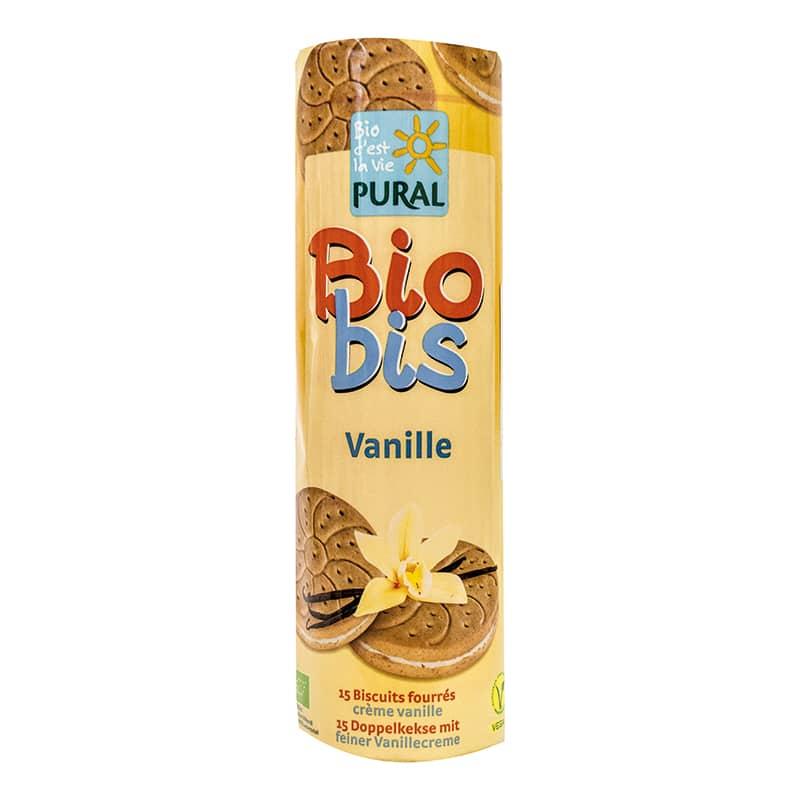 Βιολογικά μπισκότα με γέμιση βανίλιας 300g, Pural