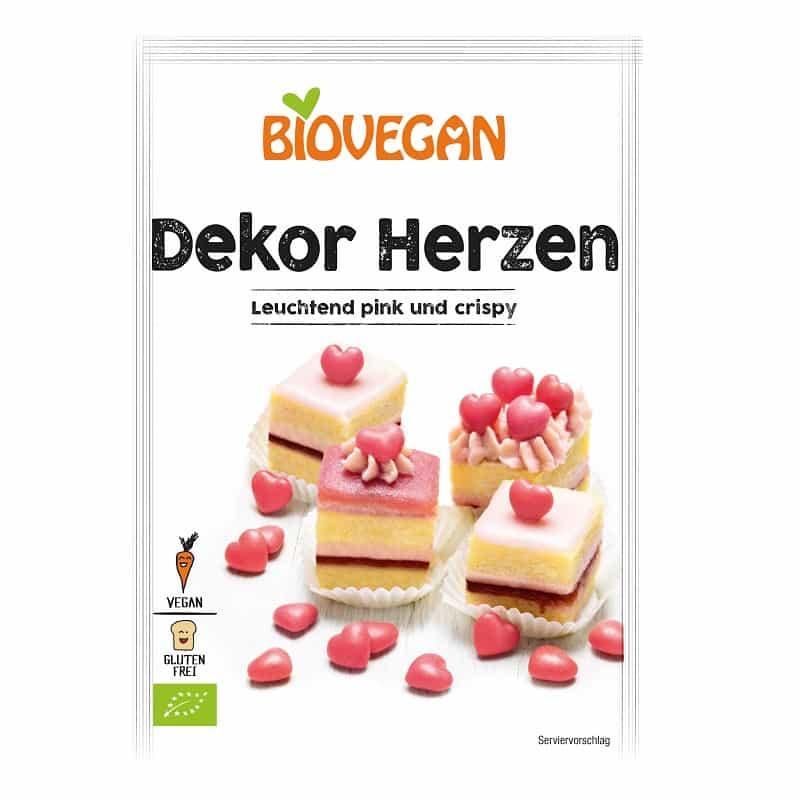Βιολογικές κόκκινες καρδούλες 35g, Biovegan