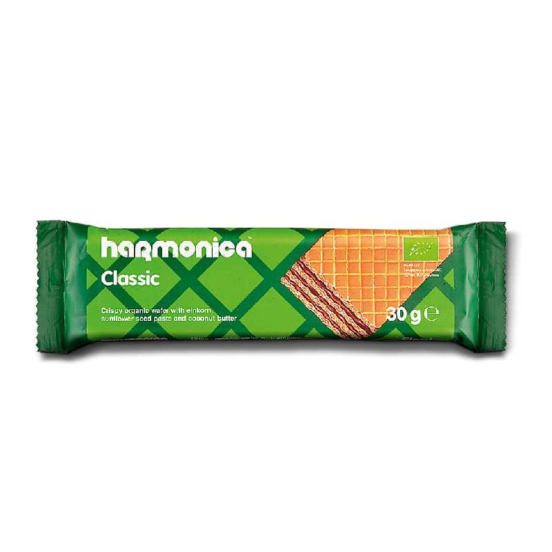 Βιολογική γκοφρέτα μονόκοκκου σίτου με κακάο 30g, harmonica