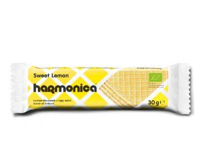 Βιολογική γκοφρέτα μονόκοκκου σίτου με λεμόνι 30g, harmonica