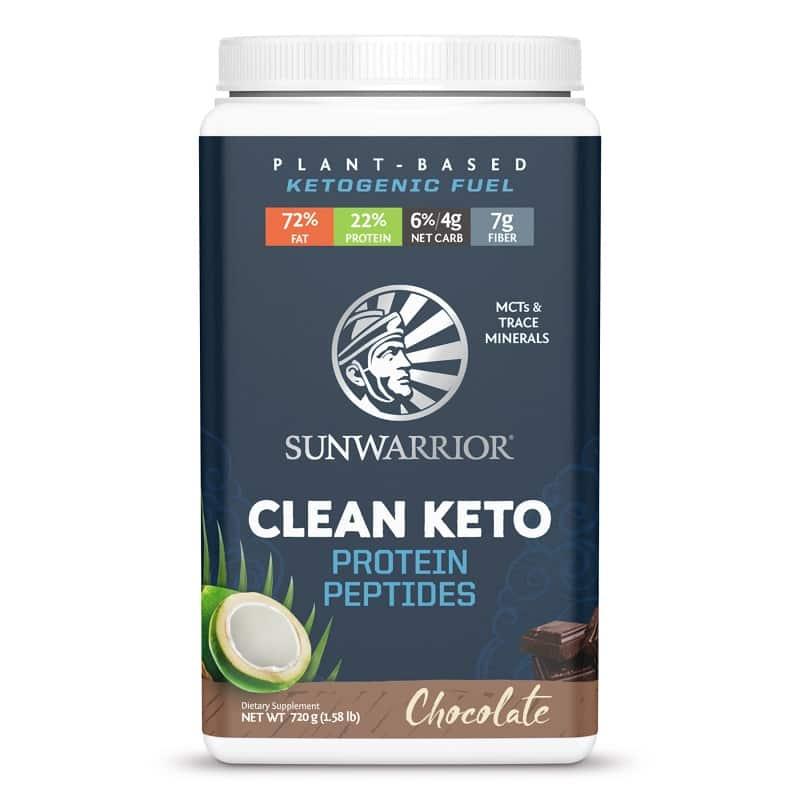 Βιολογική πρωτεΐνη Keto με σοκολάτα & πεπτίδια 720g, Sunwarrior