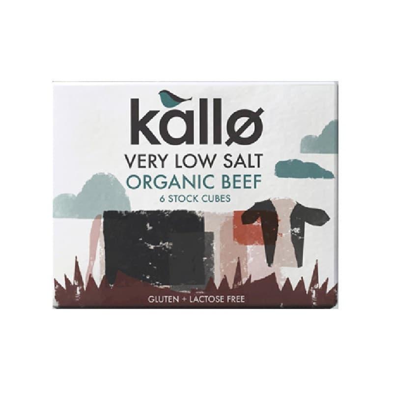 Βιολογικοί κύβοι μαγειρικής με βοδινό 48g, Kallo