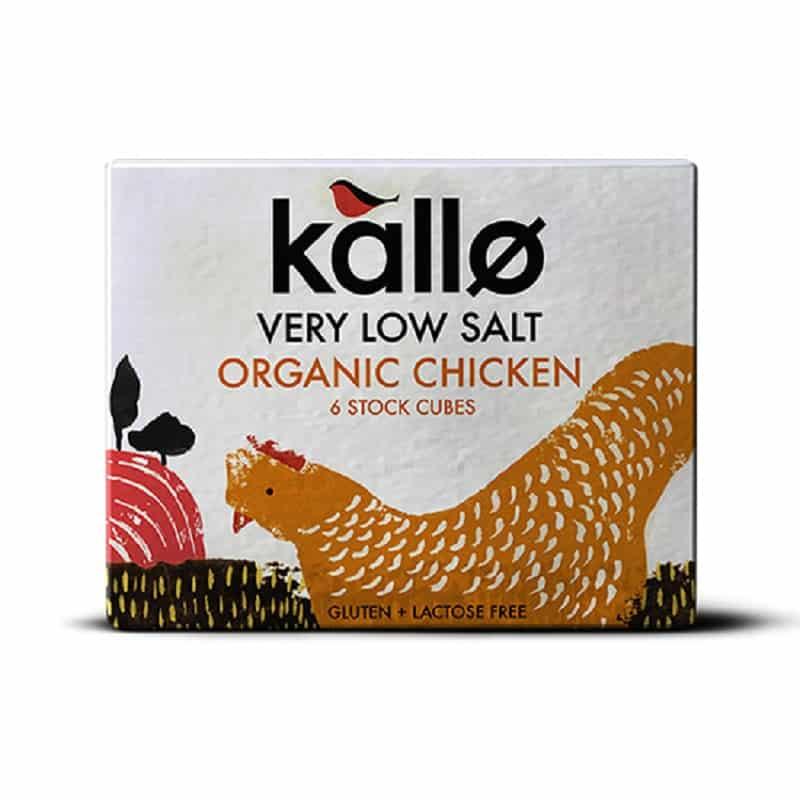 Βιολογικοί κύβοι μαγειρικής με κοτόπουλο 48g, Kallo