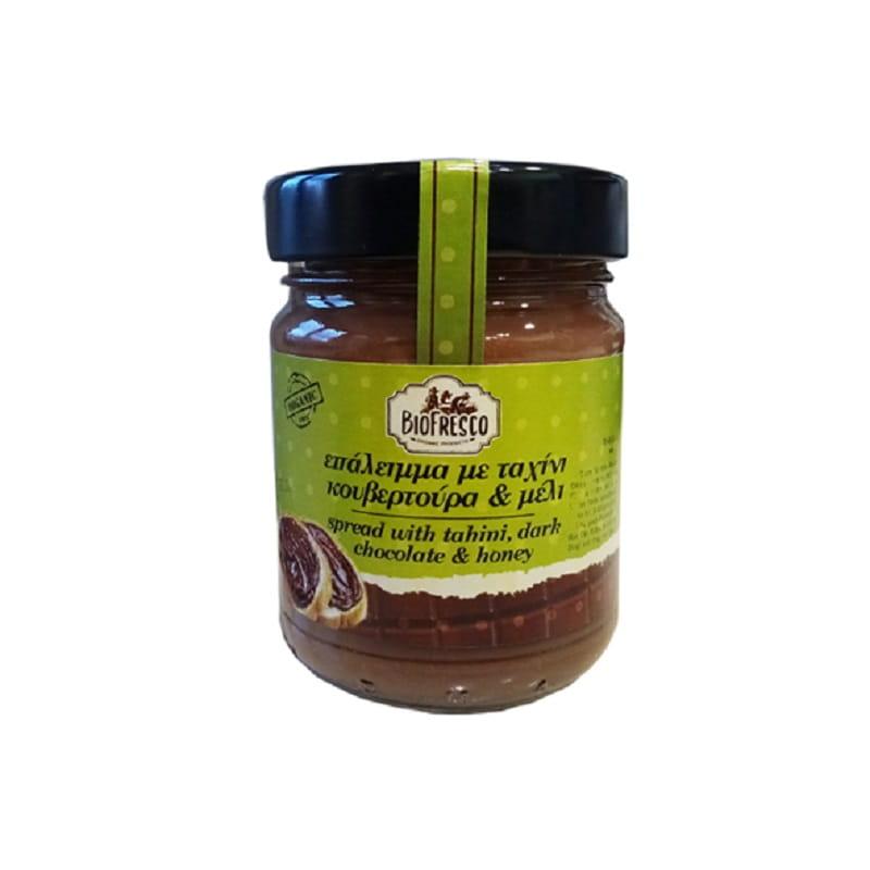 Βιολογικό επάλειμμα με ταχίνι, κουβερτούρα & μέλι 212g, Βιοφρέσκο