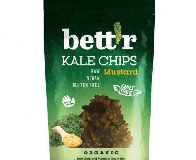 Βιολογικά τσιπς λαχανίδας (Kale) με μουστάρδα 30g, bettr
