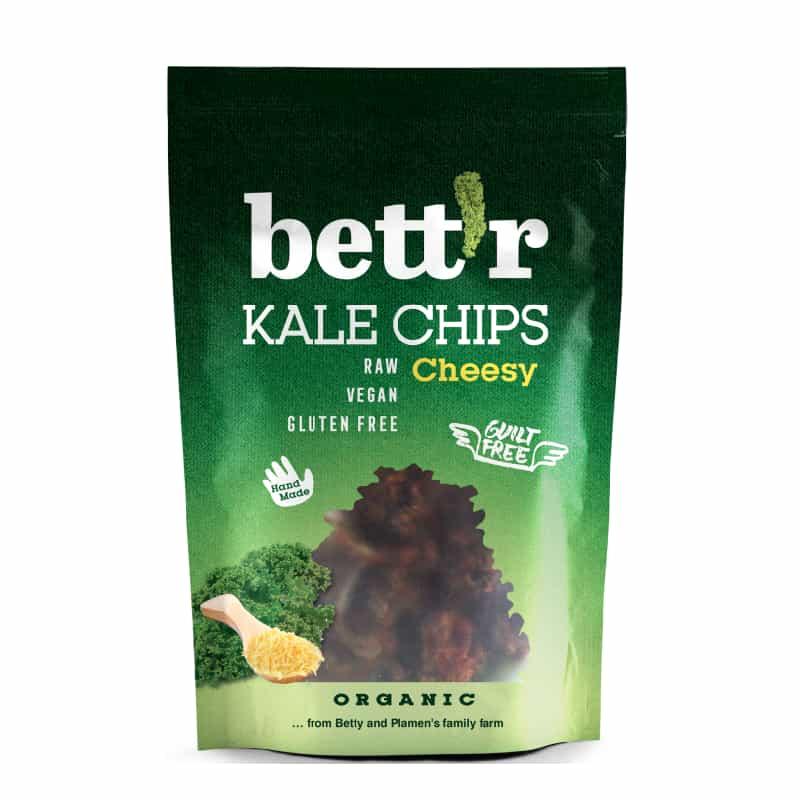 Βιολογικά τσιπς λαχανίδας (Kale) με vegan τυρί 30g, bettr