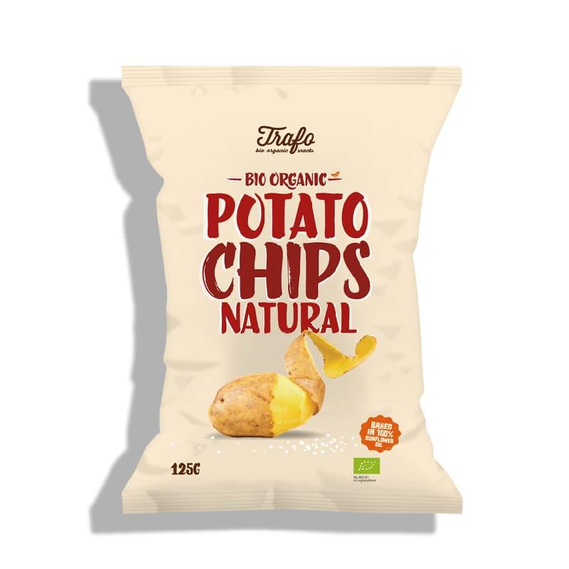 Βιολογικά τσιπς πατάτας με αλάτι 125g, Trafo