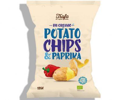 Βιολογικά τσιπς πατάτας με πάπρικα 125g, Trafo