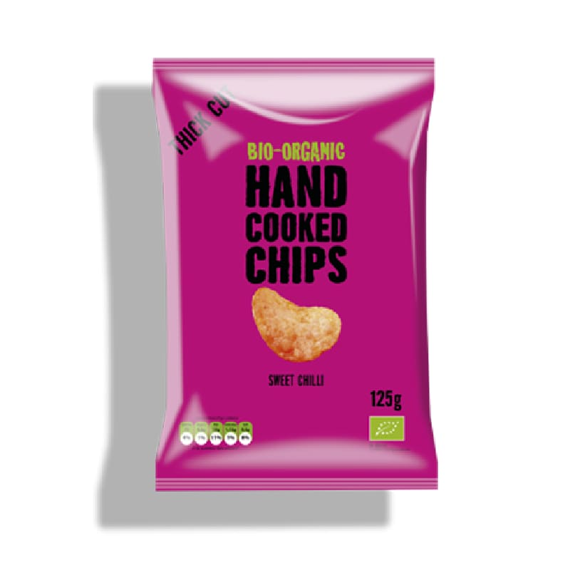 Βιολογικά χειροποίητα τσιπς πατάτας με γλυκό τσίλι 125g, Trafo