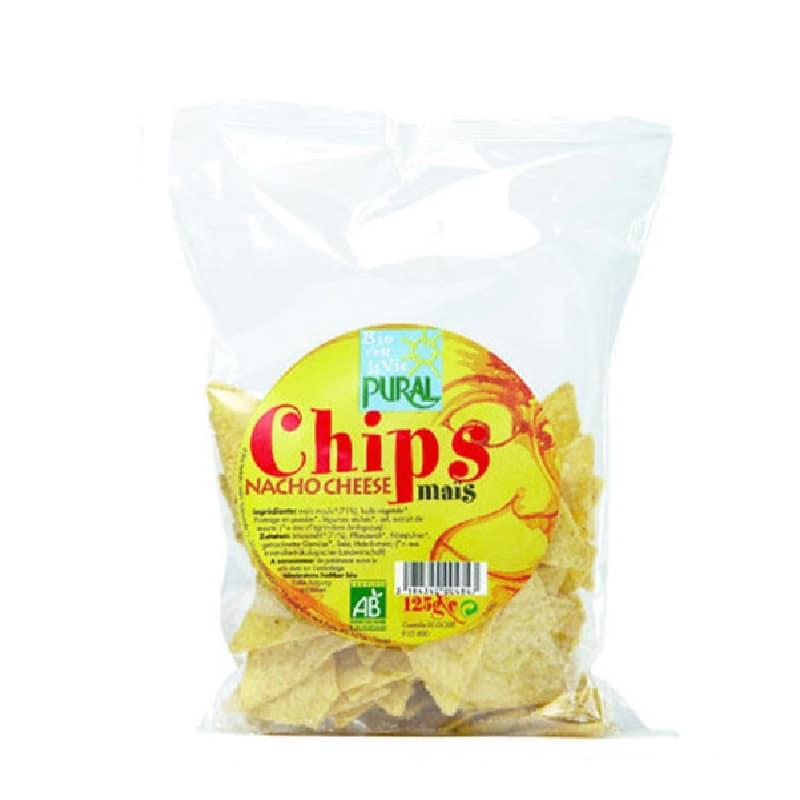 Βιολογικά nachos καλαμποκιού με τυρί 125g, Pural