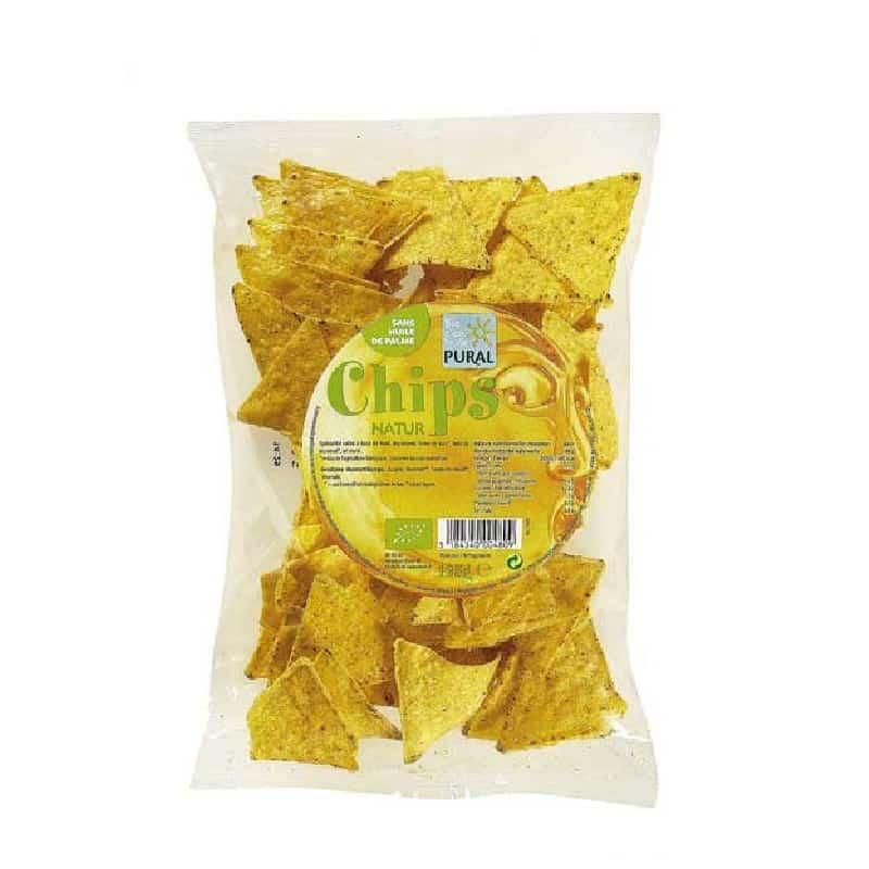Βιολογικά nachos καλαμποκιού φυσική γεύση 125g, Pural
