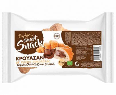 Βιολογικό κρουασάν με γέμιση κρέμα σοκολάτας 45g, Βιοαγρός