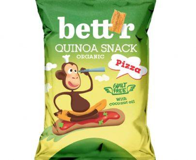 Βιολογικό σνακ κινόα πίτσα 50g, bettr